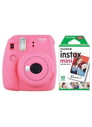 Fujifilm Instax Mini 9 Pembe Fotoğraf Makinesi & 10'lu Film Pembe